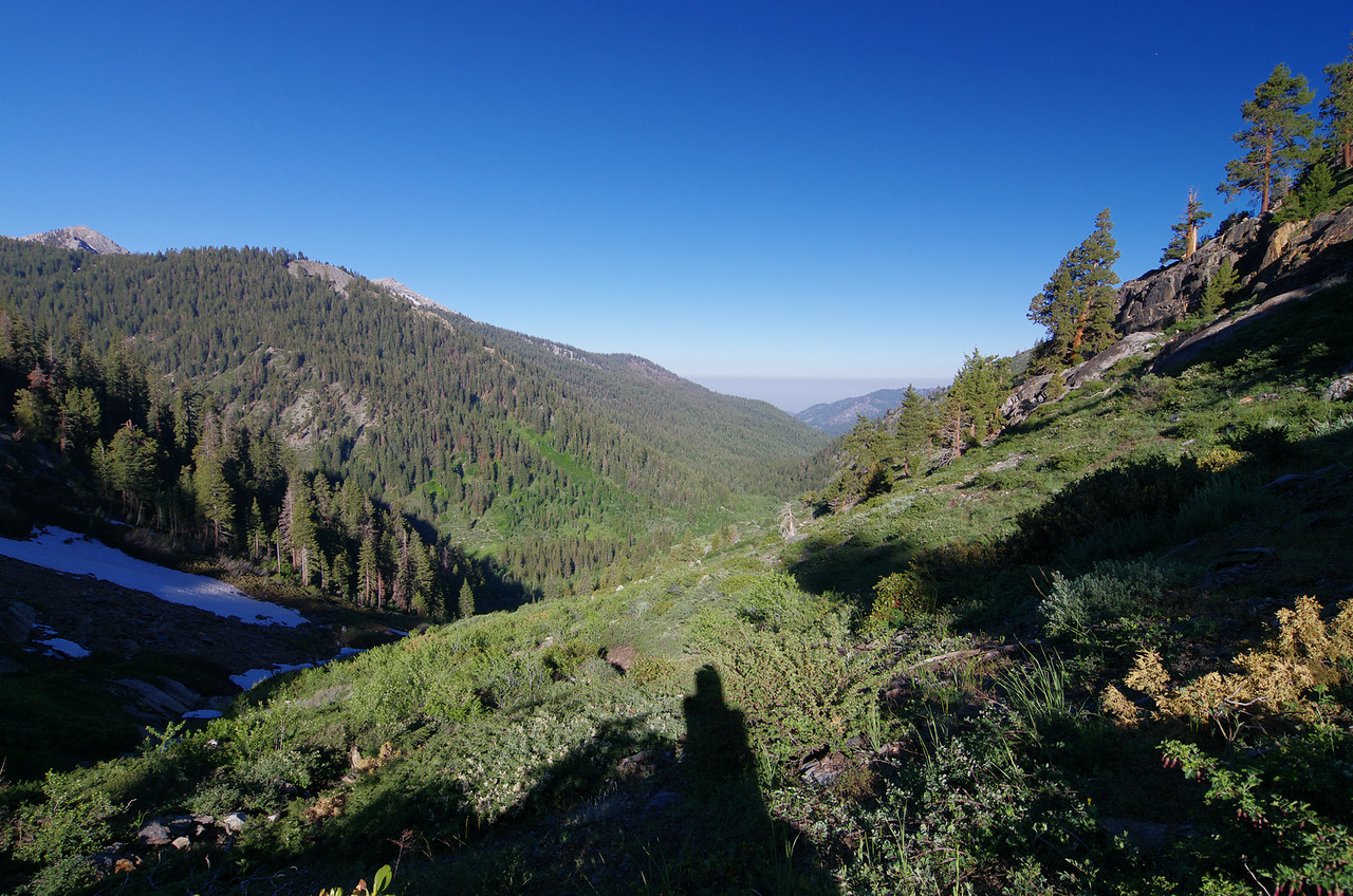 Looking back down towards Mineral King--about 8,800ft.