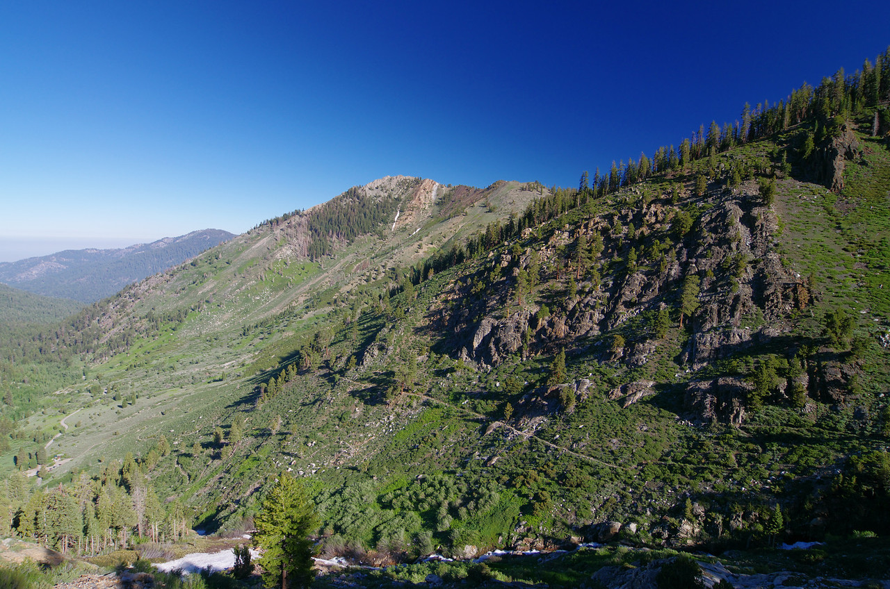 Looking NW from the trail--about 9,000ft.