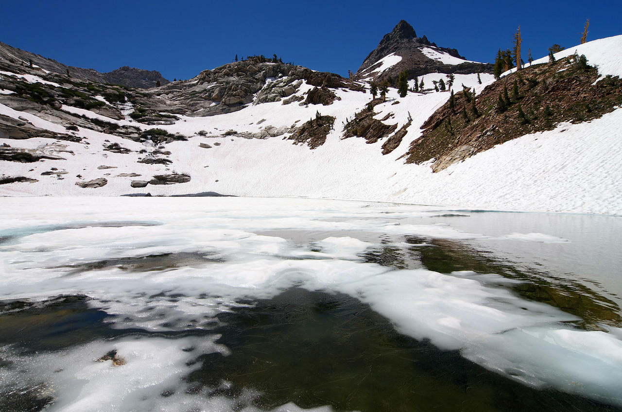 The lower Monarch Lake--10,400ft.
