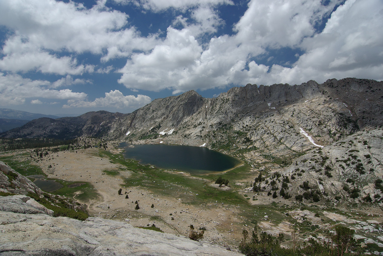 Looking Down on Silver Pass Lake