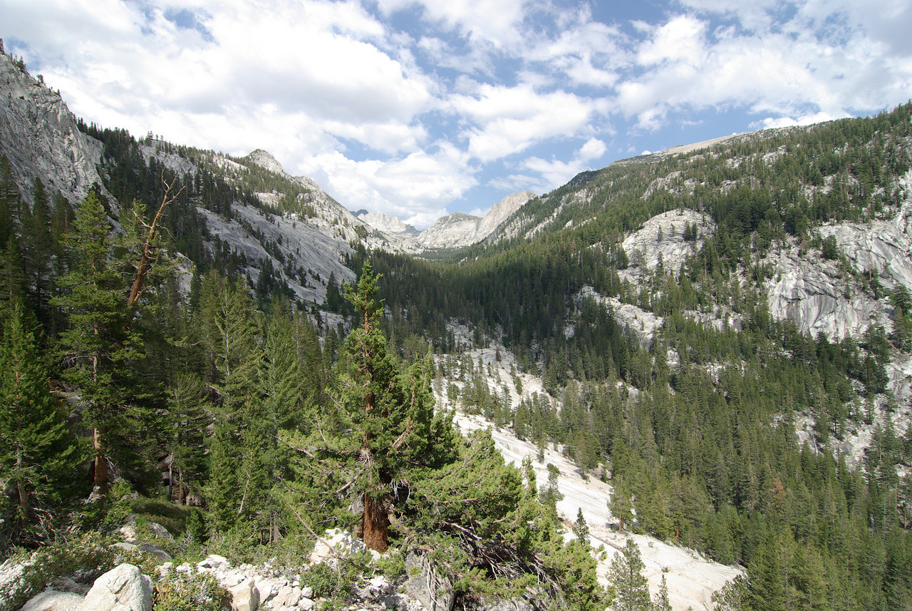 Looking towards Mott Lake from the PCT above Pocket Meadow