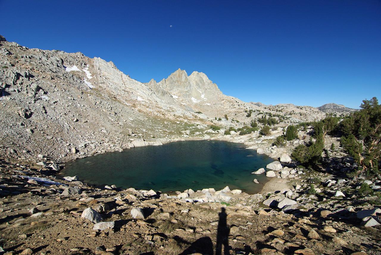The little un-named lake near Silver Pass