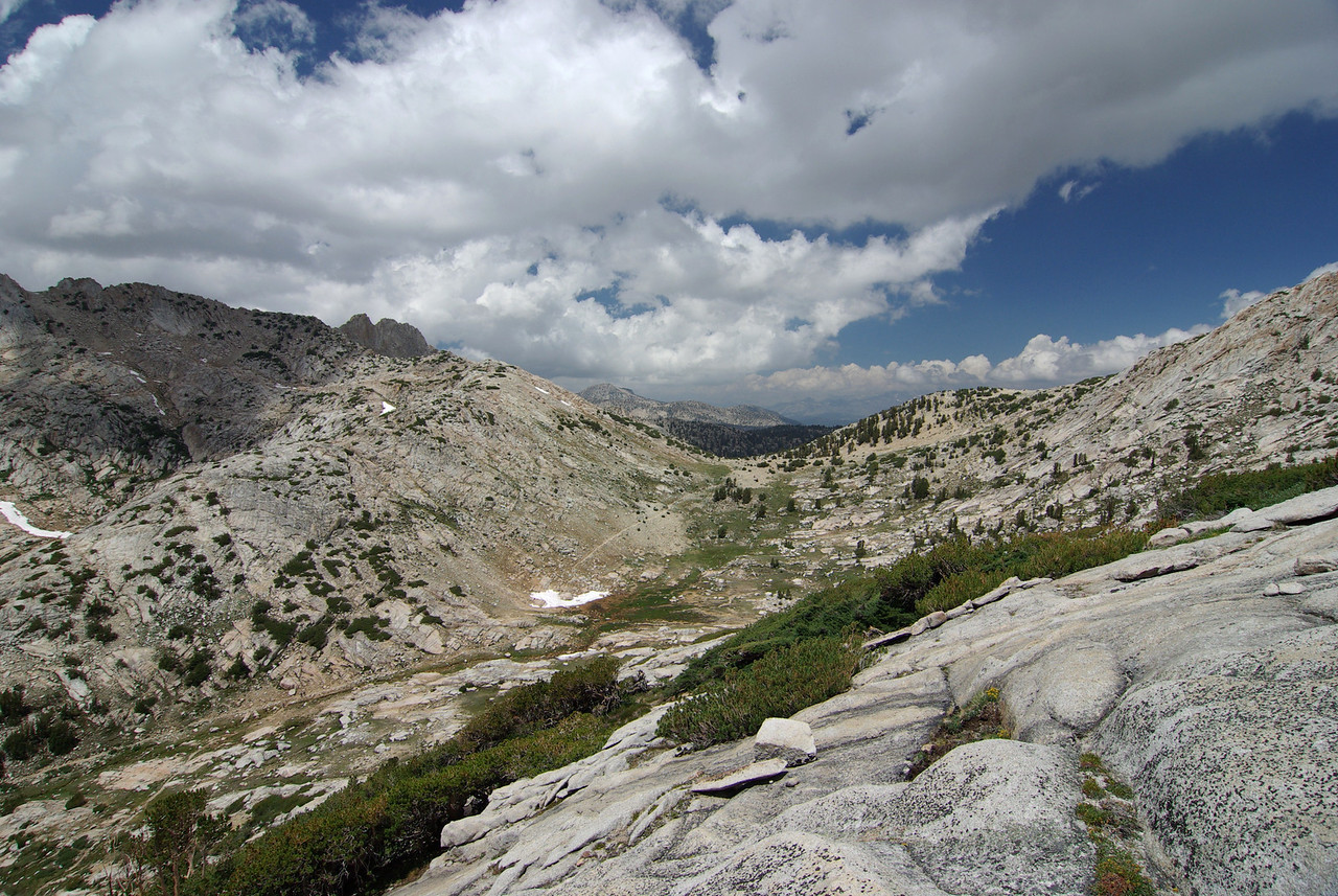 Looking NW towards Silver Pass