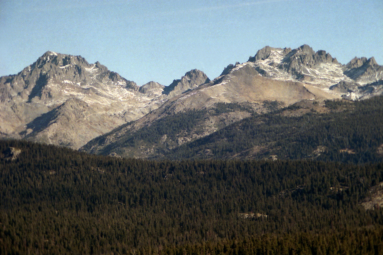Mt Ritter, Banner Peak, and the Mammoth Minarets
