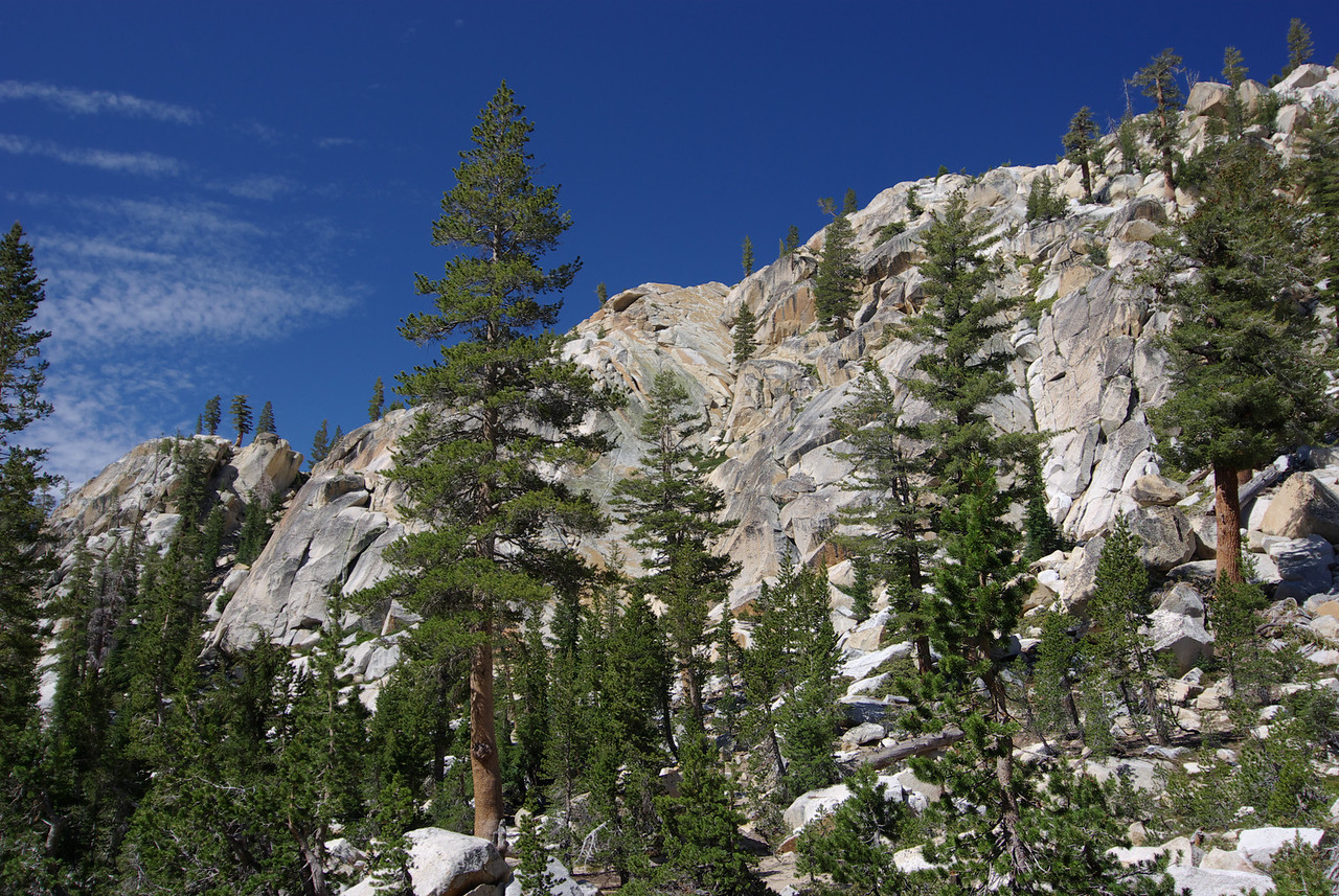 The similar landscape along the Cliff Lake Trail above Cliff Lake