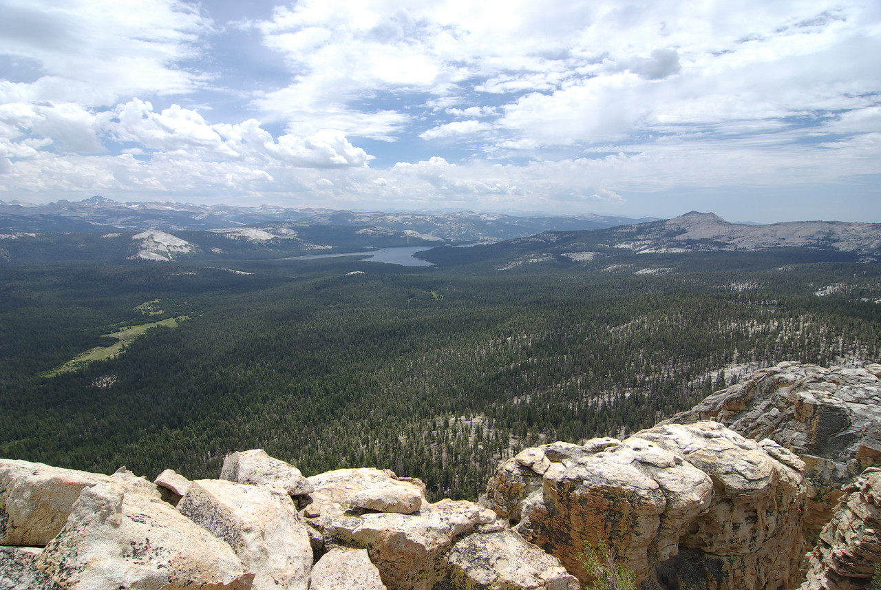 Looking towards Courtright Reservoir from atop of the unofficial Dogtooth Peak