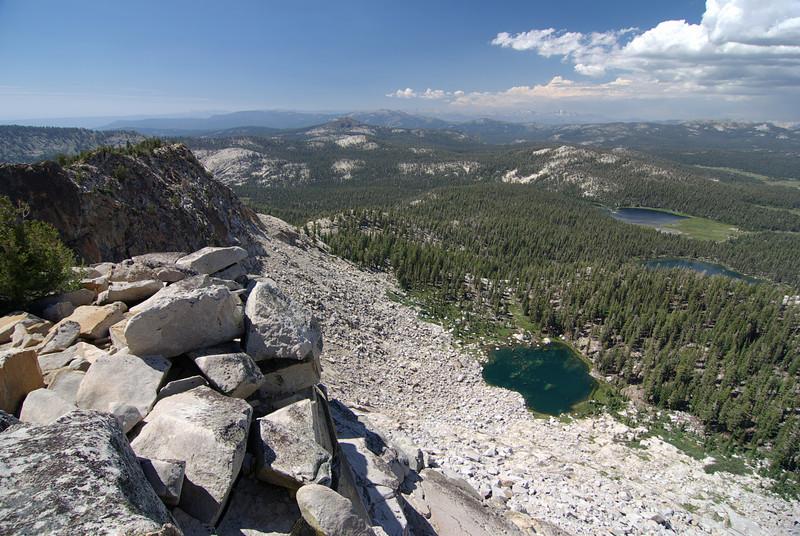 Fingerbowl Lake, The First Dinkey Lake, and South Lake