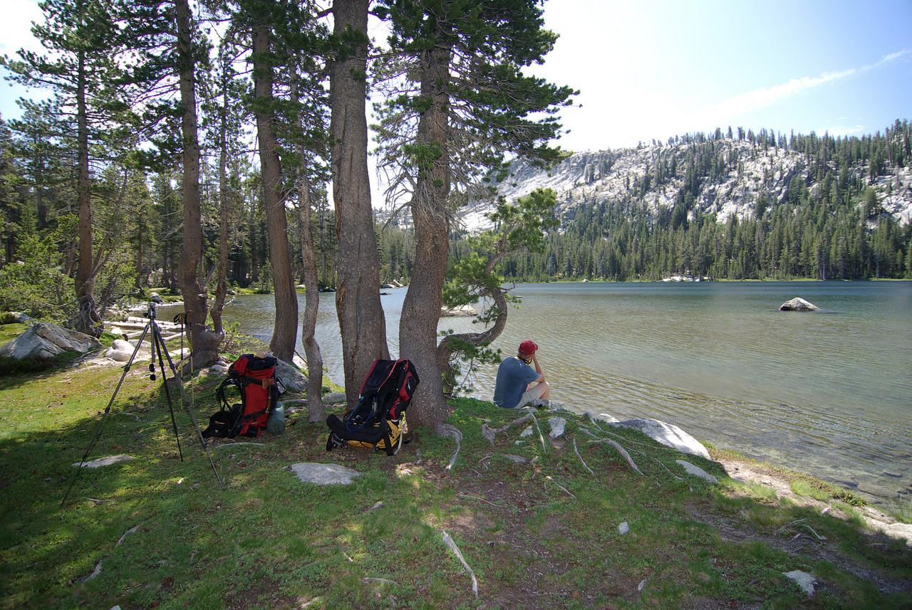 Taking a break at the South Lake