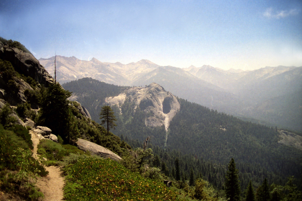 From the High Sierra Trail looking towards Sugar Bowl Dome
