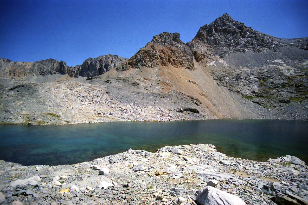 Looking North at the 3rd highest lake in the Nine Lake Basin