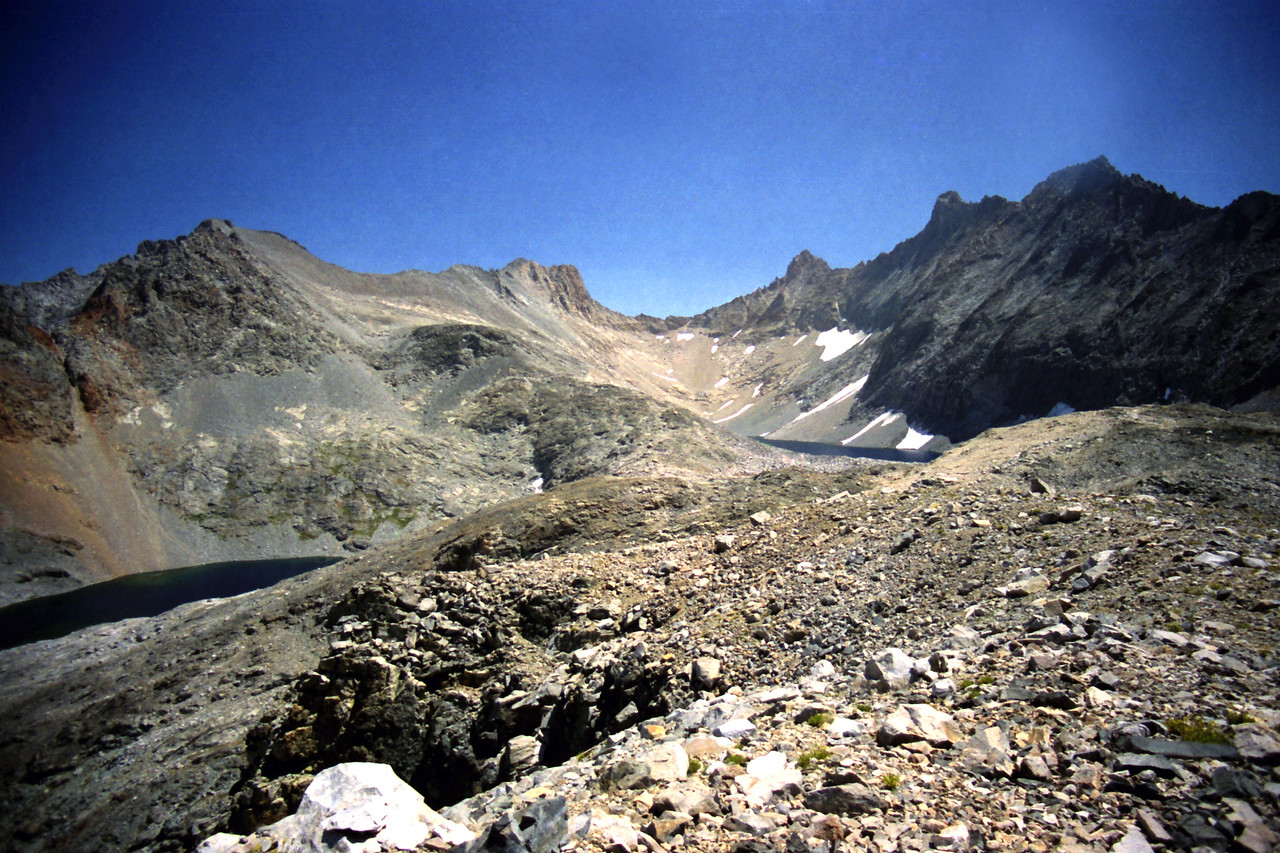 Looking East at the 3rd Highest and Highest Lakes in the Nine Lake Basin