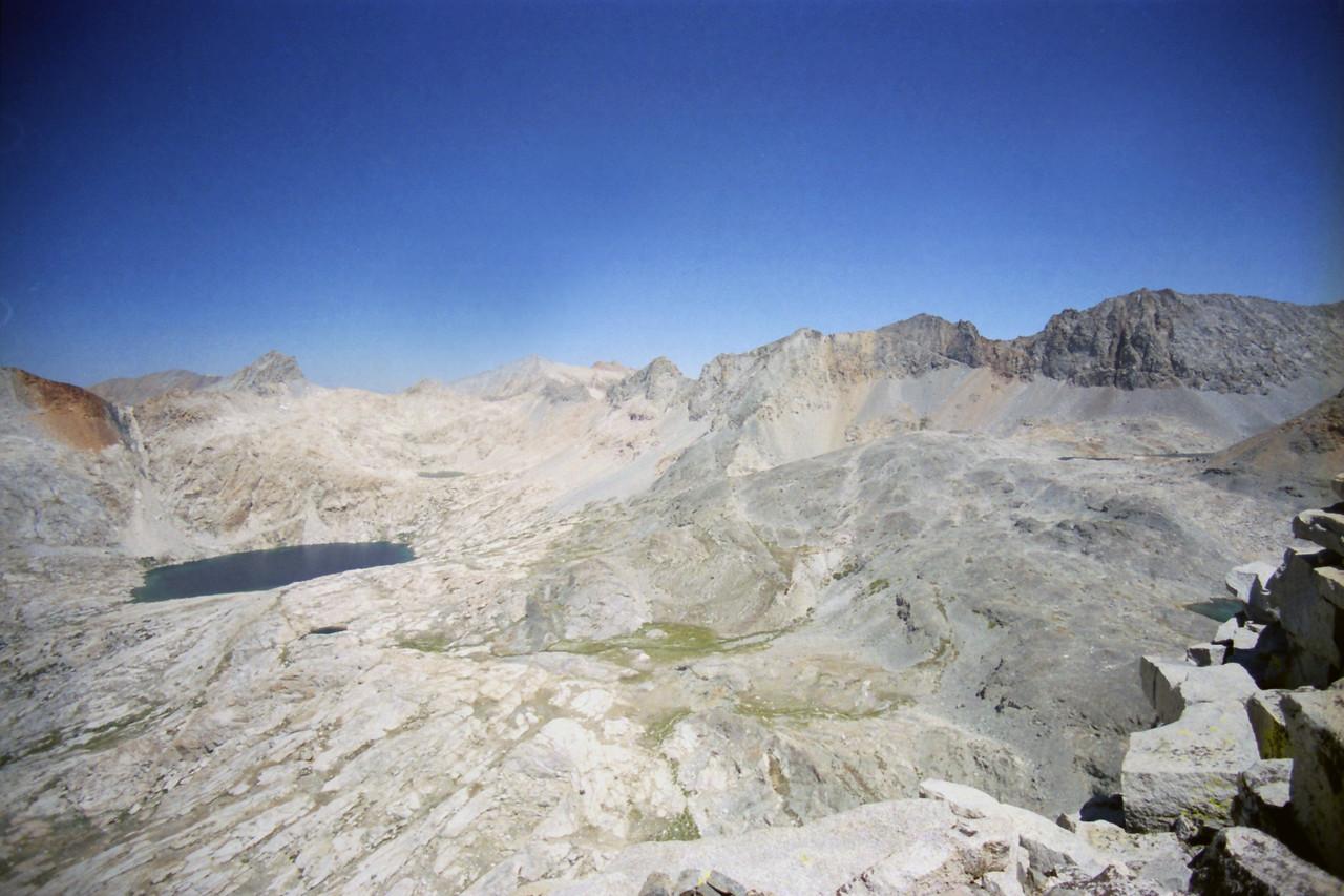 Looking NW at towards the upper Nine Lake Basin