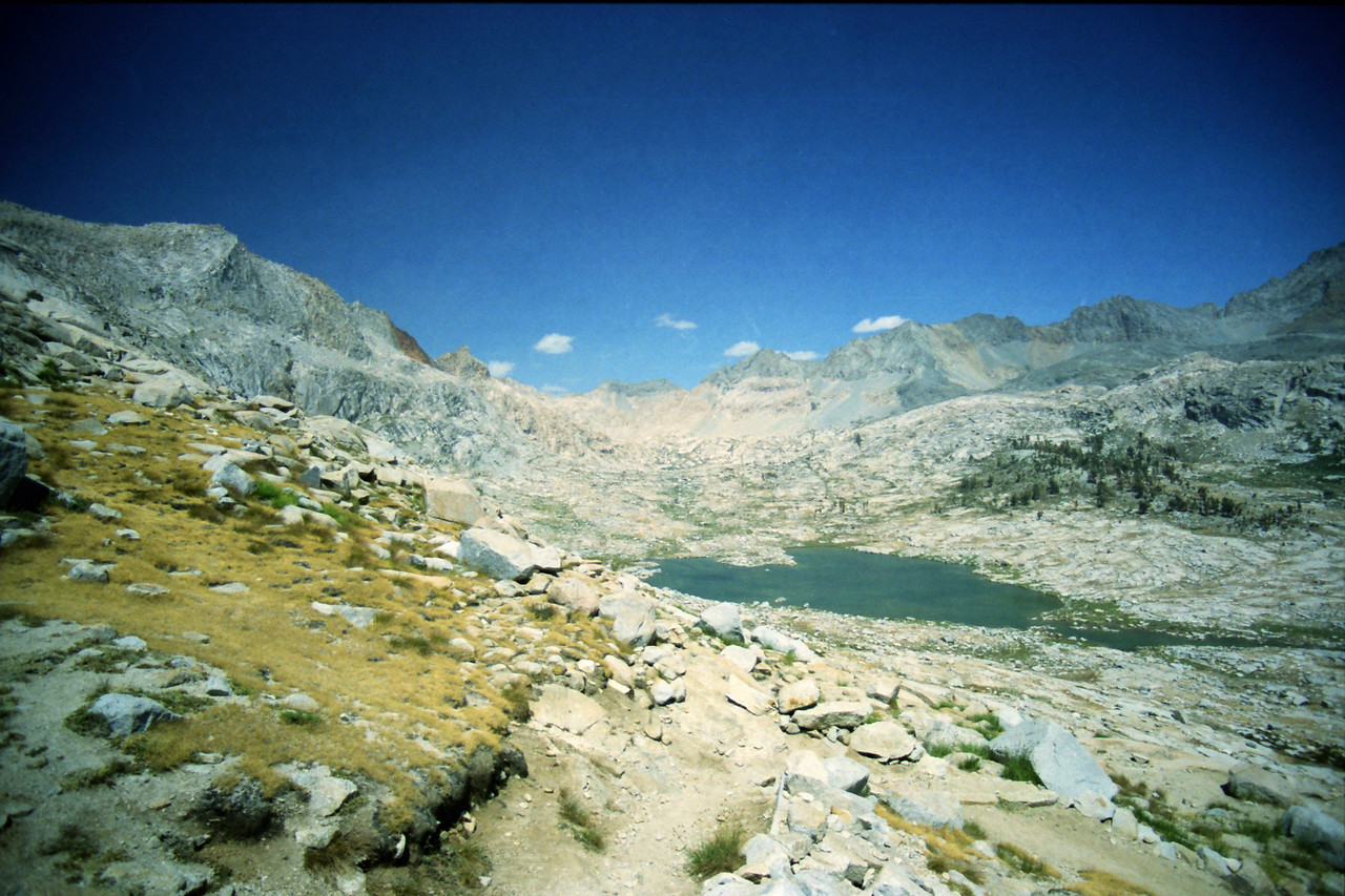 Looking towards the upper Nine Lake Basin from near the Gap