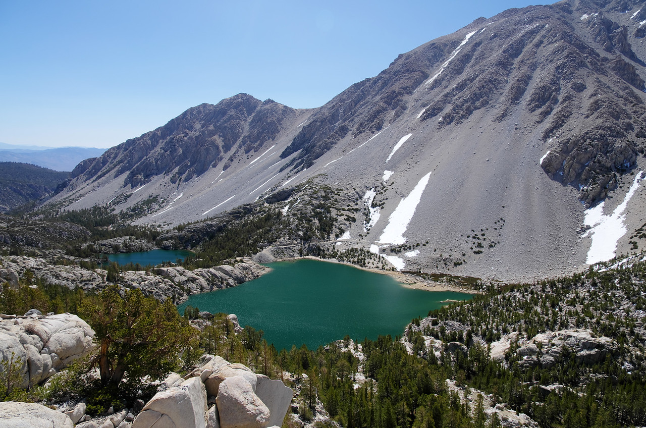 Looking down on the First and Second Lakes<br />  ~10,750ft