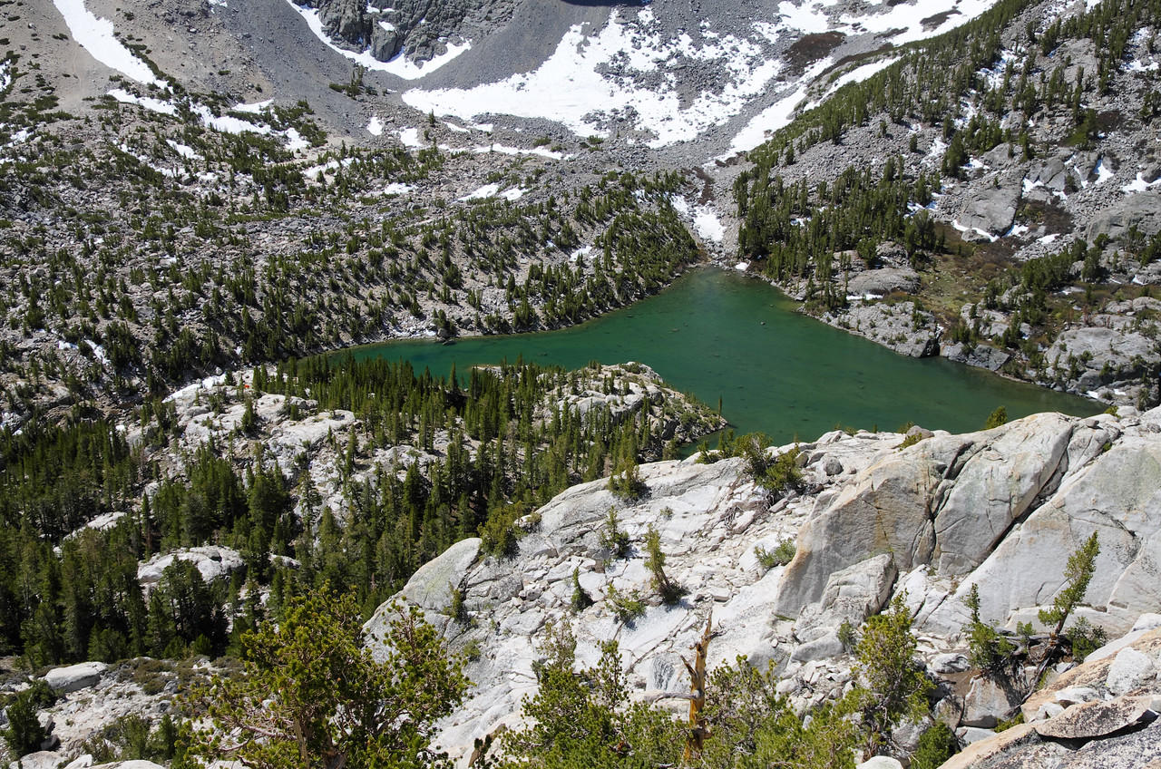 Looking down on the Third Lake ~10,750ft