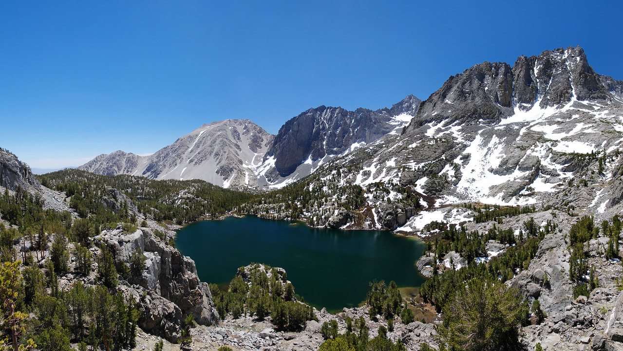 Overlooking the Fifth Lake ~11, 150ft.