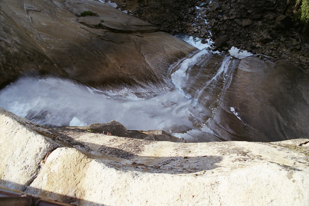 Looking Down the Nevada Fall