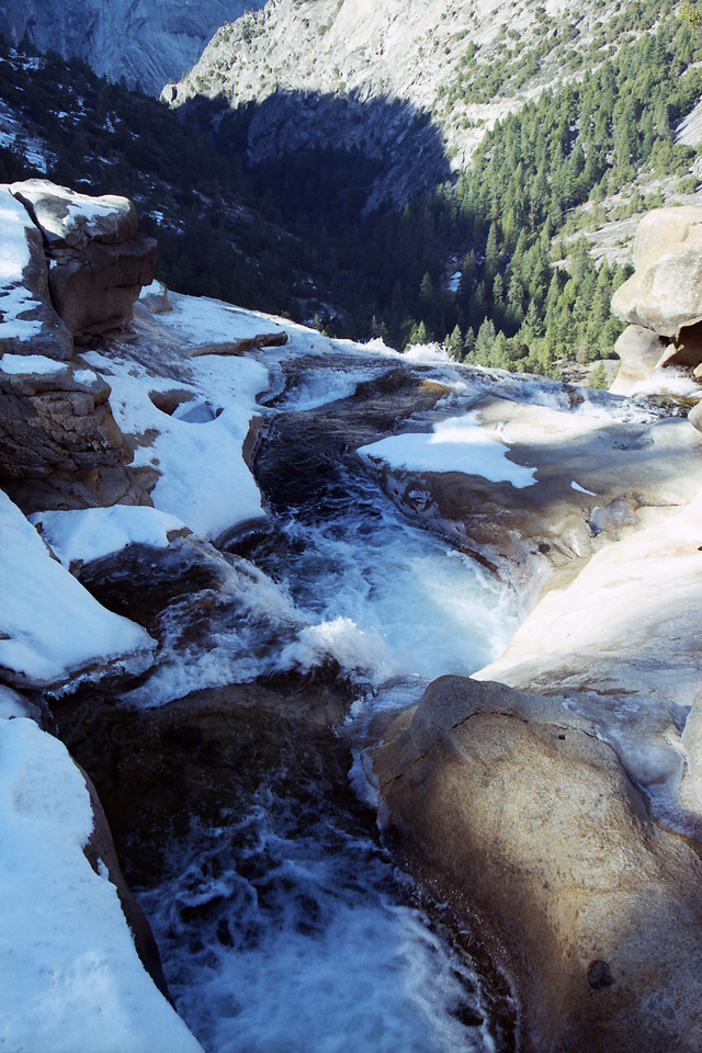 Overlooking the top of the Nevada Falls