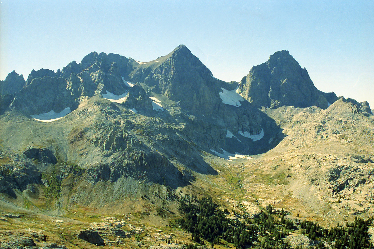 Mt Ritter & Banner Peak from the Northern side of Volcanic Ridge