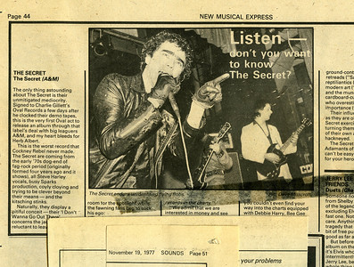NME The Secret 1978