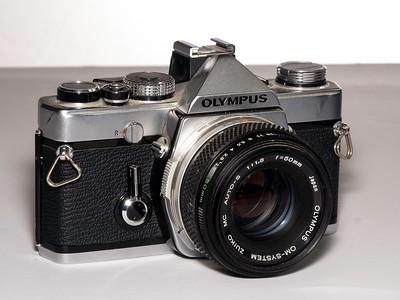 Olympus OM1 1970s vintage single lens reflex camera. taken 08/07/2014