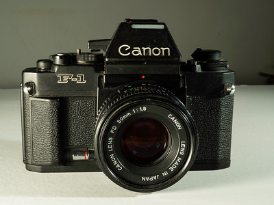 1970s vintage Canon 35mm professional camera. taken 08/07/2014