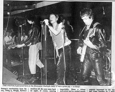Sex Pistols, The outlook,Doncaster,1976