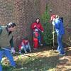 Ben Salt, Ann Westbrook '84 and Wrenn Martin '01 helped landscape at The Children's Home in Winston-Salem on Saturday, April 9, 2016.