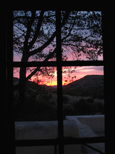 Sunrise taken in the room from our bed.