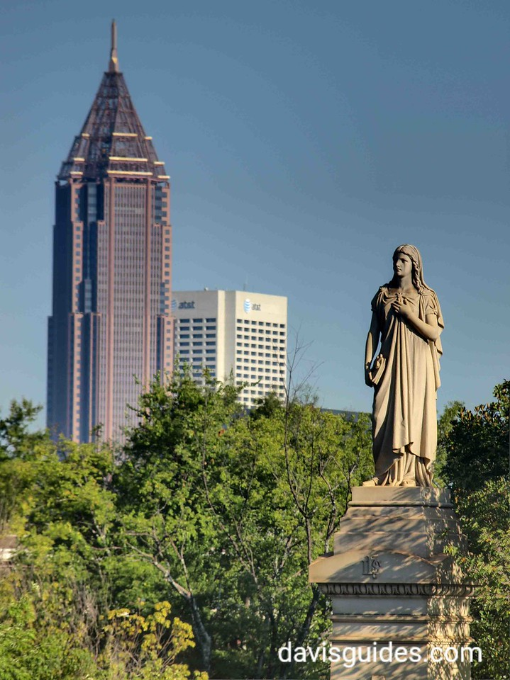 Atlanta skyline from Oakland Cemetery