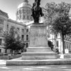 Georgia State Capitol and statue of General John B. Gordon