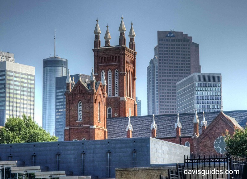Atlanta skyline and the Shrine of the Immaculate Conception