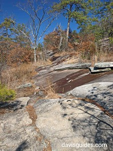 Cherokee Trail on the slopes of Stone Mountain