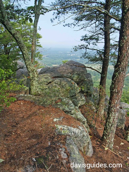 Indian Seats atop summit of Sawnee Mountain