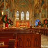 St. John's Catholic Church at Christmas, Savannah