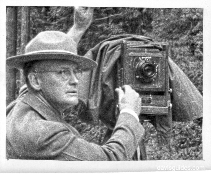 George Grant with 8x10 view camera