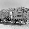 Twenty Mule Team Borax wagons near Furnace Creek Inn, Death Valley National Park, 1935