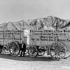 Twenty Mule Team Borax wagons near Furnace Creek Inn, Death Valley National Park, 1935