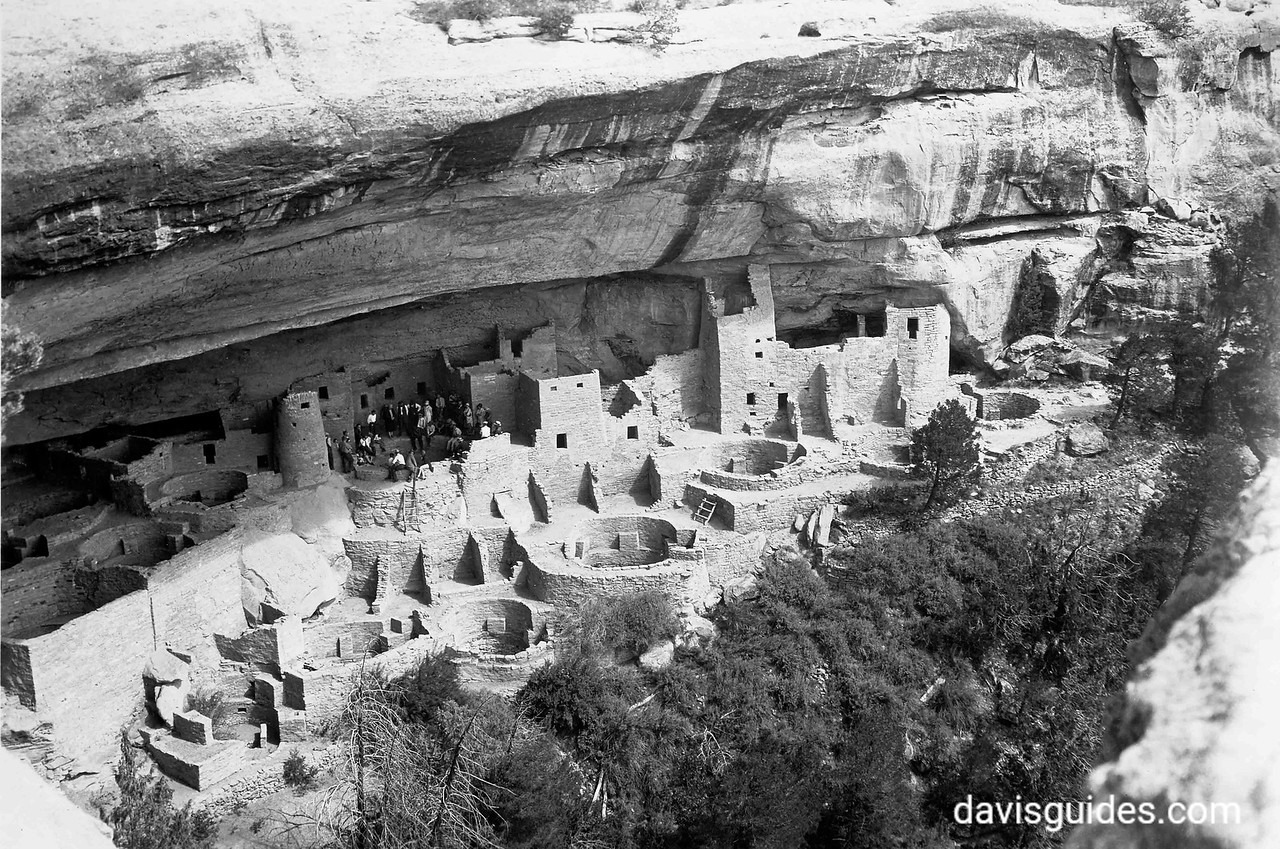 Tourists at Mesa Verde, 1929