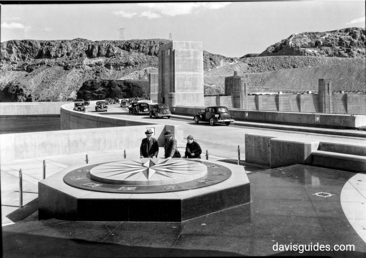 Visitors to newly dedicated Boulder [now Hoover] Dam, Lake Mead National Recreation Area, 1939