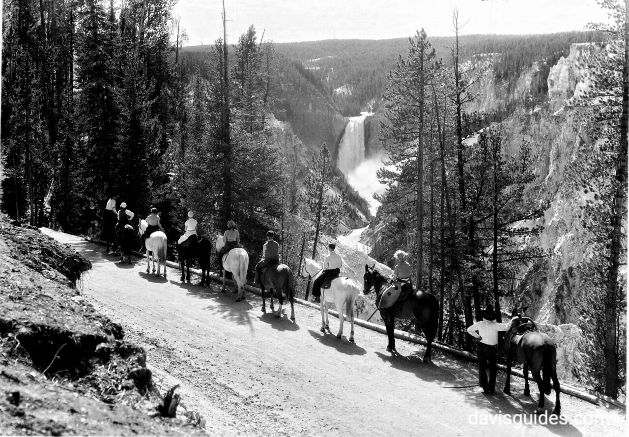 Horseback party near Artist's Point, Yellowstone National Park, 1933