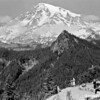 Tourists enjoying view of Mount Rainier from Ricksecker Point, Mount Rainier National Park, 1932