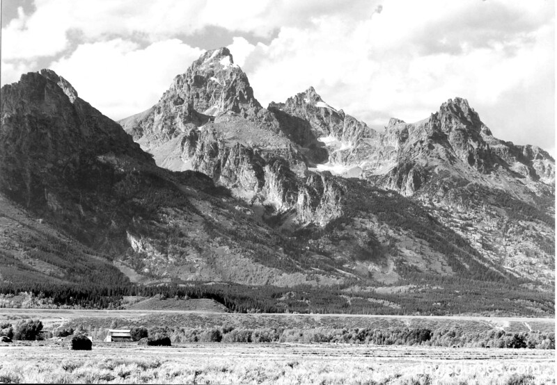 Tetons from Blacktail Butte, 1930
