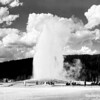 Old Faithful geyser, Yellowstone National Park, 1933