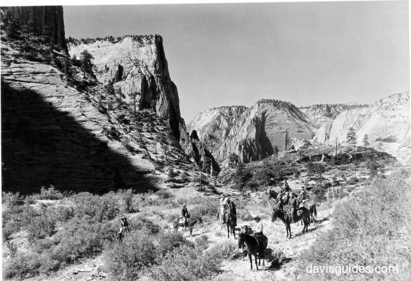 Horseback party on East Rim Trail, Zion National Park, 1929