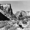 Horseback party on East Rim Trail, Zion National Park, 1929