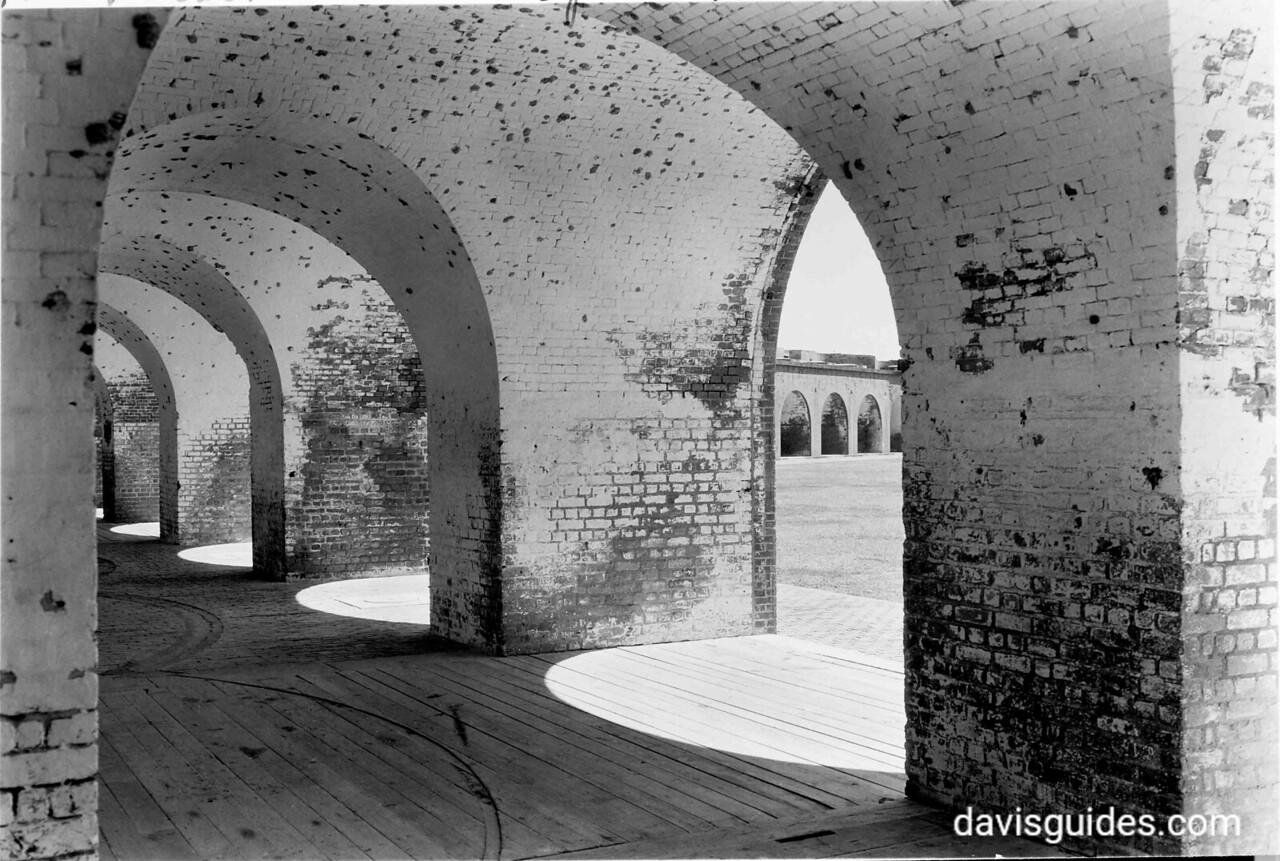 Brick casements, Fort Pulaski National Monument, 1937