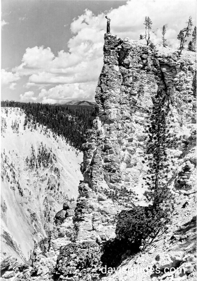 Rim of Bluff near Artist's Point, Yellowstone National Park, 1936