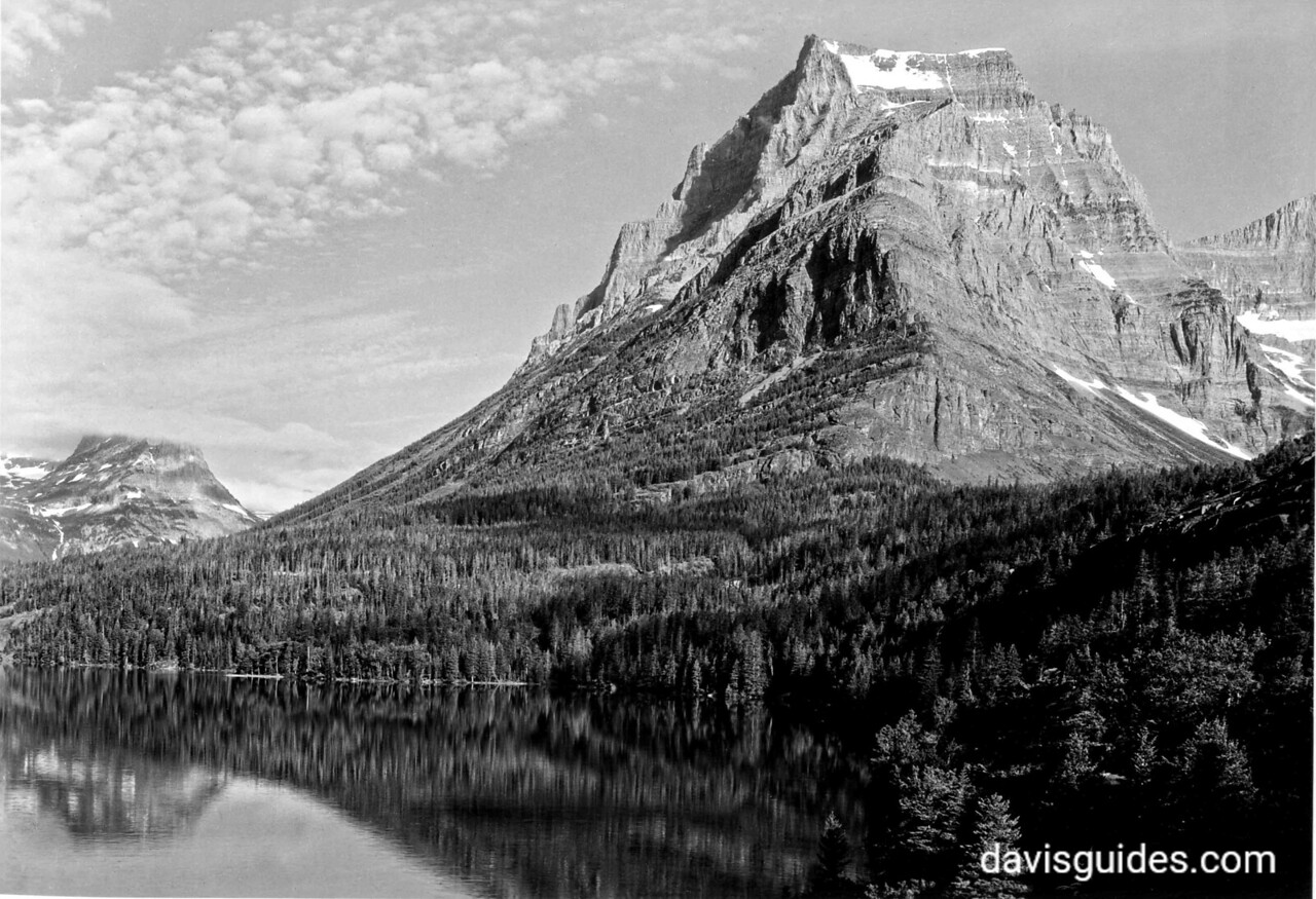 Going to the Sun Mountain and Upper St. Mary Lake, Glacier National Park, 1933