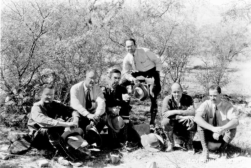 George Grant [second from left] on Sonoran Mission Expedition to Mexico, 1935
